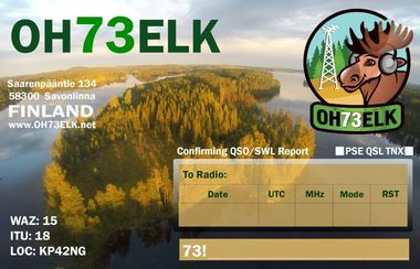 QSL OH73ELK