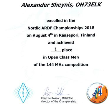 OH73ELK at Nordic Radio Orienteering Championship
